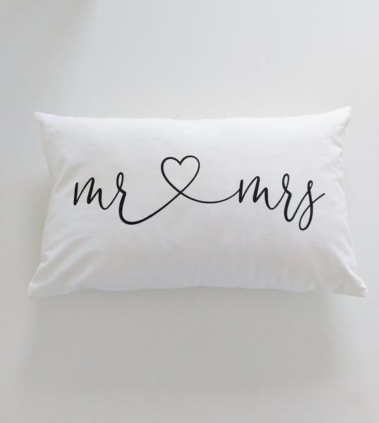 Lumbar Pillow Mr and Mrs Unique Wedding Gift Bedroom Decor Master Bedroom Lumbar Pillow Quote Romantic Gift Throw Pillow with Words Quotes