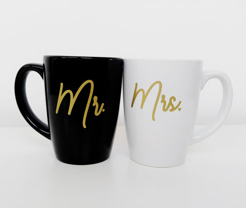 Mr and Mrs Mugs, Wedding Gift, Cute Mugs, Newlywed Gift, Couples Mugs, His and Hers Mug Set, Unique Wedding Gift Wedding Mugs Matching Mugs