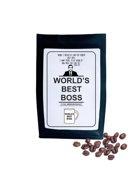 The Office Gift Worlds Best Boss Roasted Coffee Beans Coffee Lover Gift Coffee Gift for Boss Michael Scott Quote