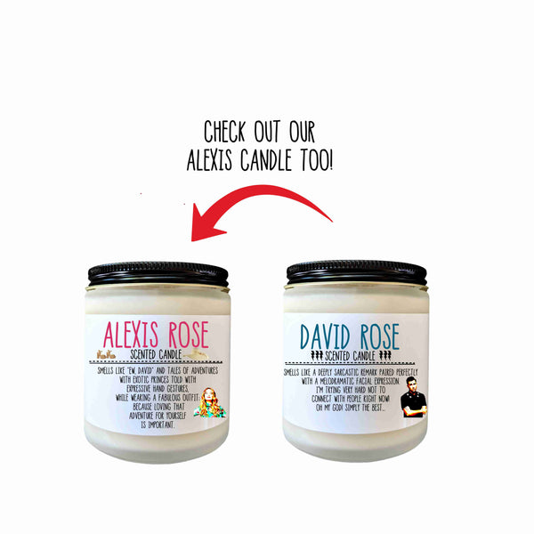 Alexis Rose Schitts Creek Gift Scented Candle Ew David Funny Candle Gift for Her Pop Culture Candle Fandom Candle