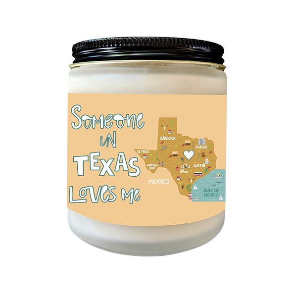 Missing You Gift Texas Love Someone from Texas Loves Me Long Distance Gift LDR Heart in Texas Gift