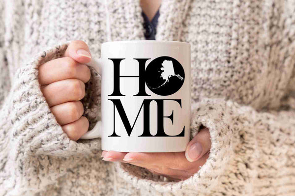 Alaska Mug State Mug Coffee Mug Home Mug No Place Like Home State Mug Gift