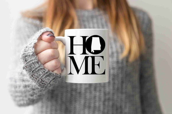 Alabama Mug State Mug Coffee Mug Home Mug Homesick Gift No Place Like Home State Mug