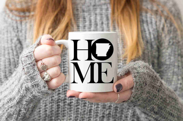 Arkansas Mug State Mug Coffee Mug Home Mug Homesick Gift No Place Like Home Friend Gift LDR Gift