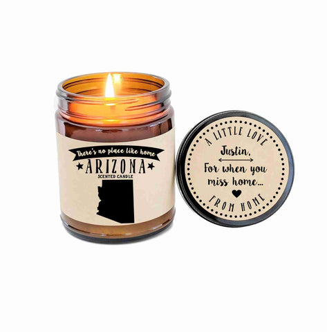 Arizona Candle Scented Candle Missing Home Moving Gift No Place Like Home State Candle