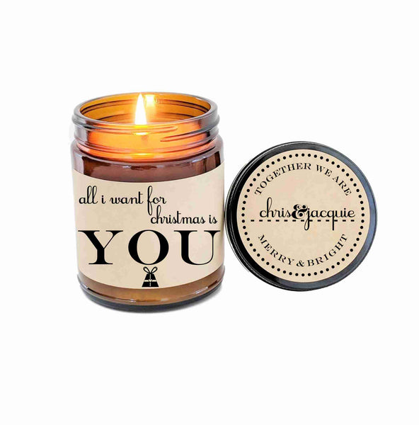 Christmas Gift Boyfriend Gift All I Want For Christmas Is You Candle G Define Design 11