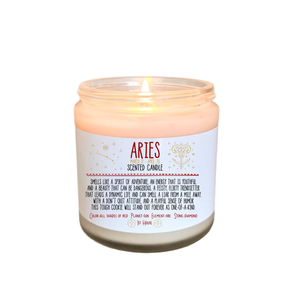 Aries Gift Zodiac Candle Zodiac Gifts Birthday Gift Birthday Candle  Birthday Gift for Her Birthday gift for Friend Holiday Gift Under 20