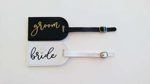 Bride and Groom Luggage Tags Mr and Mrs Luggage Tags Honeymoon Luggage Tags Wedding Gift