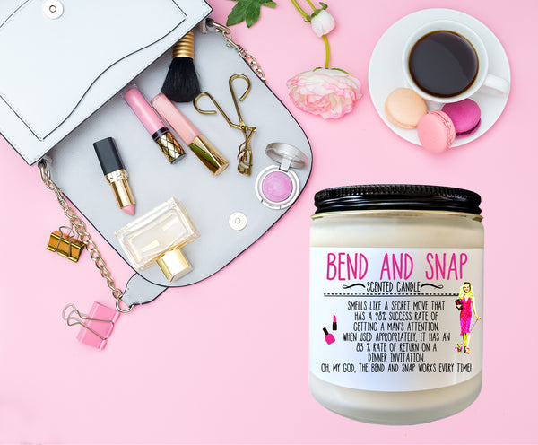 Bend and Snap Legally Blonde Gift Scented Candle Funny Candle Gift for Her Stocking Stuffer Gag Gift Holiday Gift