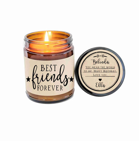 Best Friend Gift Best Friends Forever Soy Candle Besties Gift for Best Friend BFF Gift
