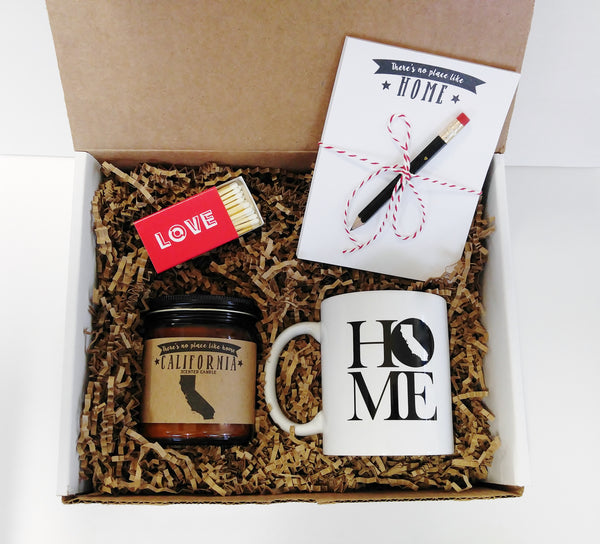 Home Gift Box Homesick Gift Box Care Package Miss You Gift Thinking Of You Gift - Any State