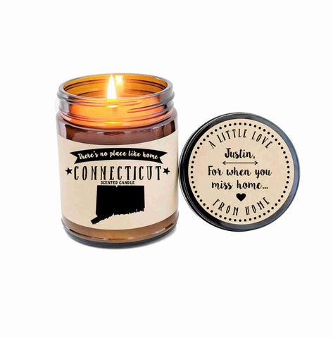 Connecticut Candle State Scented Candle Missing Home No Place Like Home State Candle Gift