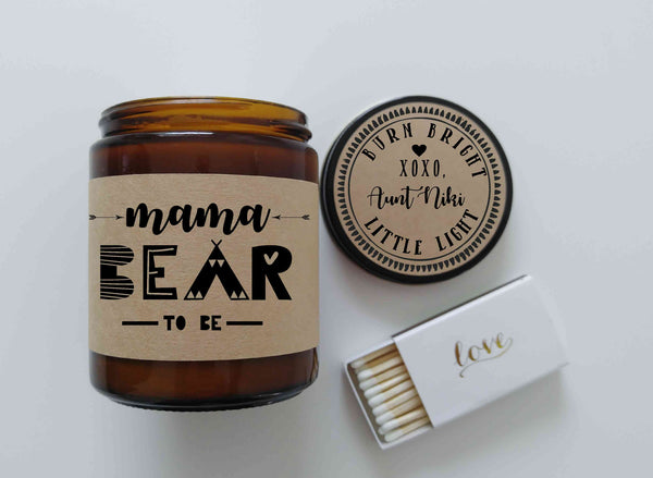 Mama To Be Personalized Pregnancy Gift Mama Bear Gift Soy Candle Pregnancy Gift Baby Shower Gift