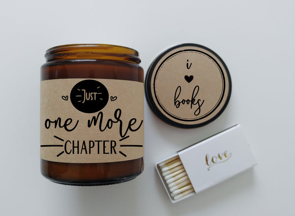Just One More Chapter Book Lover Gift Candle Gift Soy Candle I Love Books Book Club Bookclub Bookish Gift Book Nerd Bibliophile Gift Ideas