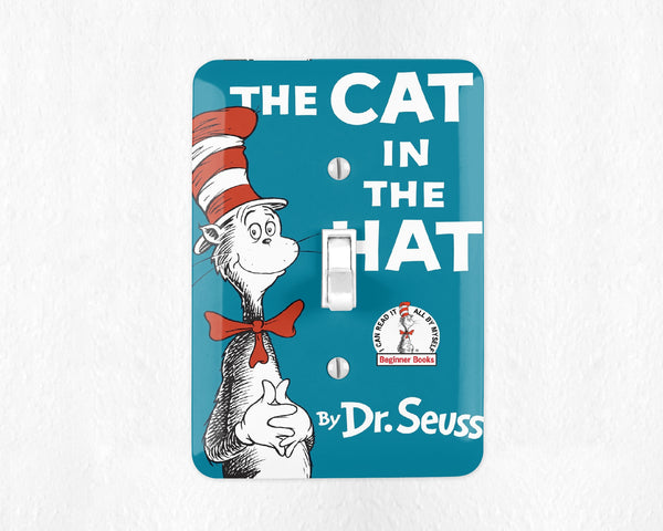 The Cat in The Hat Light Switch Cover Light Switch Plate Wall Plate Dr Seuss Nursery Decor Dr Seuss Room Decor Kids Room Childrens Room