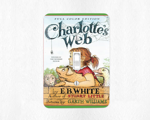 Charlottes Web Light Switch Cover Light Switch Plate Wall Plate Nursery Decor Bookish Farm Nursery Decor Kids Room Childrens Room Home Decor