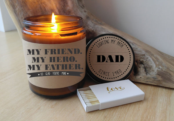 Gift for Dad Fathers Day Gift My Friend My Hero My Father Gift Birthday Gift for Dad Fathers Day