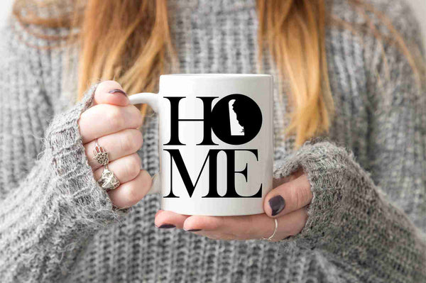 Delaware Mug State Mug Coffee Mug Home Mug No Place Like Home Mom Gift Dad Gift