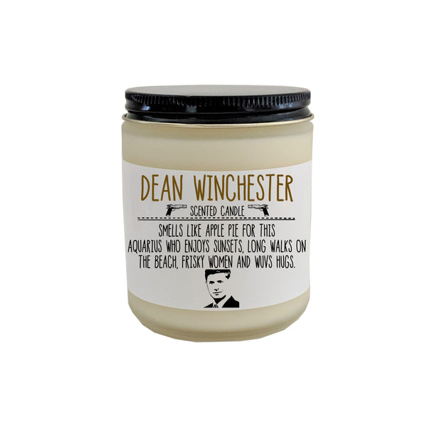 Supernatural Dean Winchester Scented Candle Castiel Supernatural Gift Winchester Brothers Pop Culture Candle Gift for Him Birthday Gift