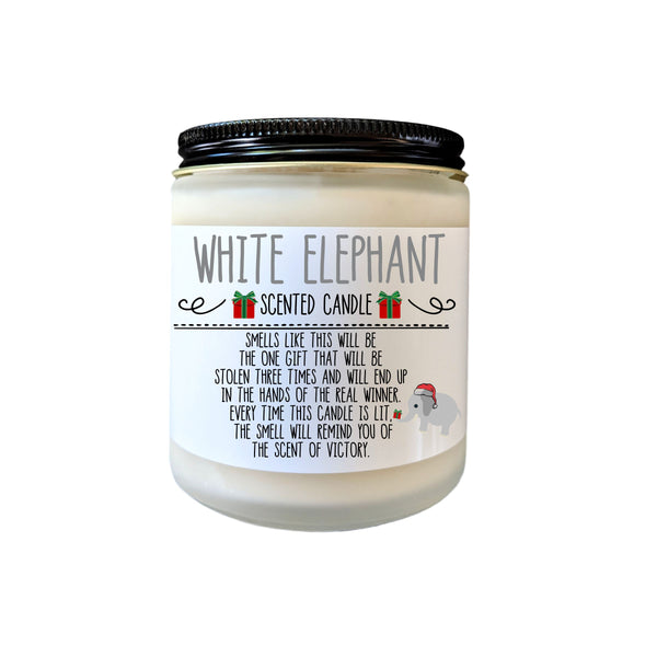 White Elephant Gift Christmas Gift White Elephant Party Gift Exchange Holiday Party Funny Gift Under 20 Gag Gift White Elephant Candle