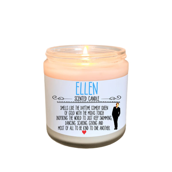 Ellen Degeneres Gift Scented Candle Be Kind To One Another Just Keep Swimming Ellen Gift for Her Inspirational Quotes Inspirational Gift