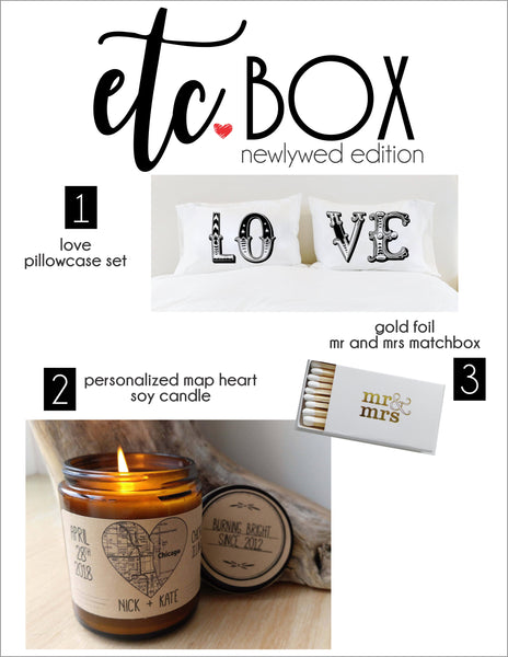 Wedding Gift Box Newlywed Gift Bridal Shower Gift for Bride Gift Box for Couple Honeymoon Gift