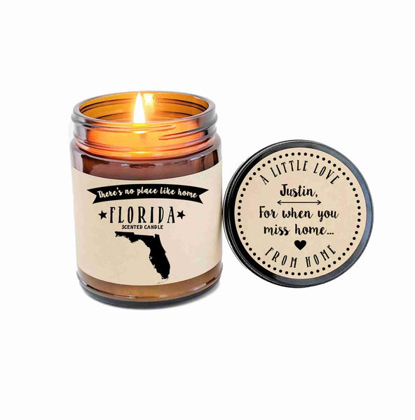 Florida Candle State Scented Candle Missing Home No Place Like Home State Candle