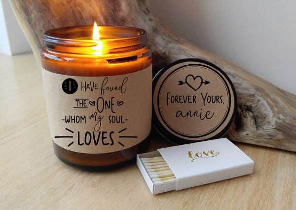 I Have Found the One Whom My Soul Loves Wedding Gift for Groom Gift for Bride Wedding Day Gift