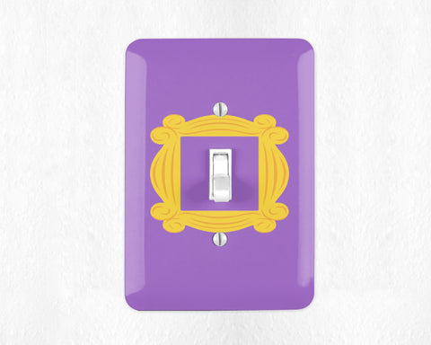 Friends TV Show Monicas Peephole Monicas Door Switch Plate Light Switch Cover Light Wall Plate Friends Door Monicas Apartment Purple Door
