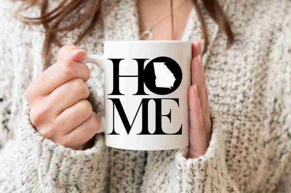 Georgia Mug State Mug Coffee Mug Home Mug Homesick Gift No Place Like Home State Mug Gift