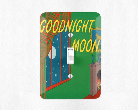 Goodnight Moon Light Switch Cover Light Switch Plate Wall Plate Good Night Moon Nursery Decor Bookish Decor Kids Room Childrens Room