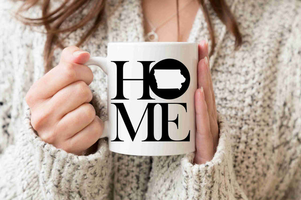 Iowa Mug State Mug Coffee Mug Home Mug No Place Like Home State Mug Gift