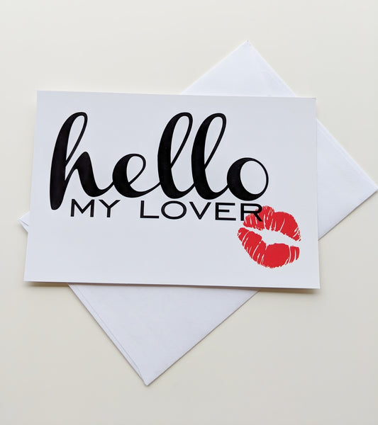 Funny Card Romantic Card Valentines Day Card Hello My Lover Valentine Card for Husband Card for Wife Card for Boyfriend Card for Girlfriend