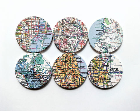 Personalized Map Coasters Custom Ceramic Coaster Wedding Gift Coaster Set State Map Custom Map Coasters Housewarming Gift
