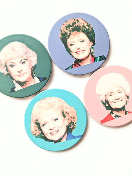 Golden Girls Gift Ceramic Coaster Set Birthday Gift for Her Housewarming Gift Funny Gift for Friend New Home Gift