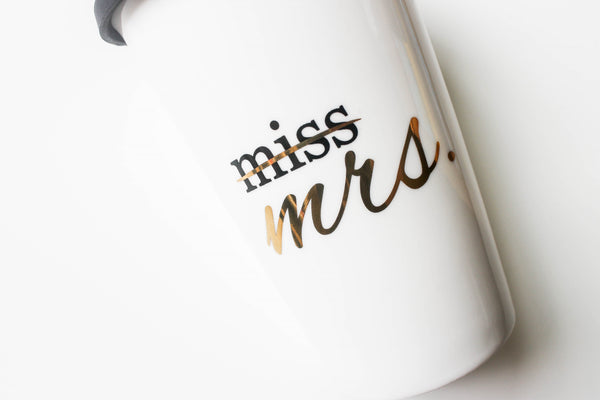 Miss to Mrs Coffee Tumbler Bride Coffee Cup Wedding Planning Mug Bride Gift Bride To Be Gift
