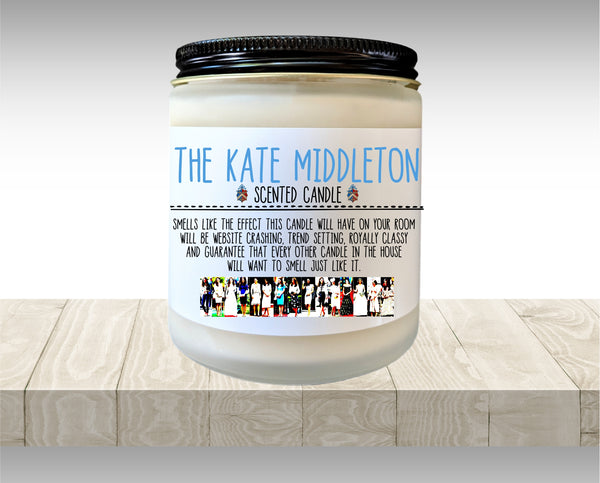 Kate Middleton Scented Candle Duchess of Cambridge Gift for Her Holiday Gift Birthday Gift Celebrity Candle fandom Candle