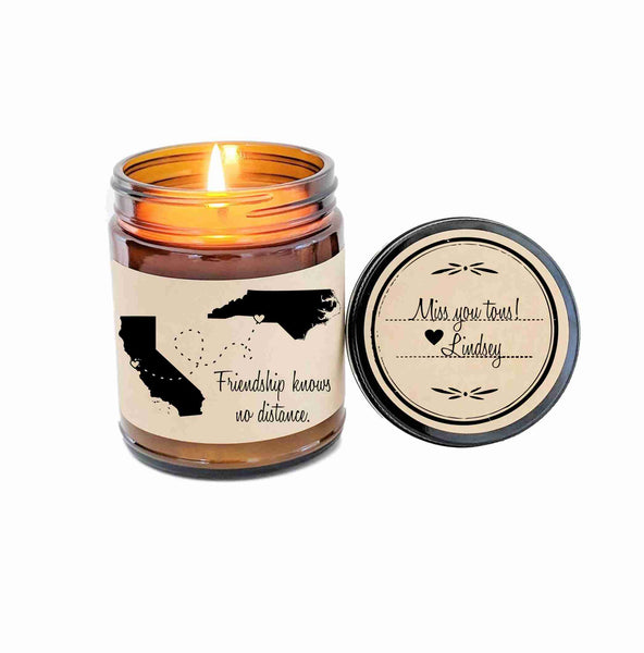 BFF Gift Long Distance Friendship Best Friend Gift Soy Candle Gift for Friend Birthday Gift