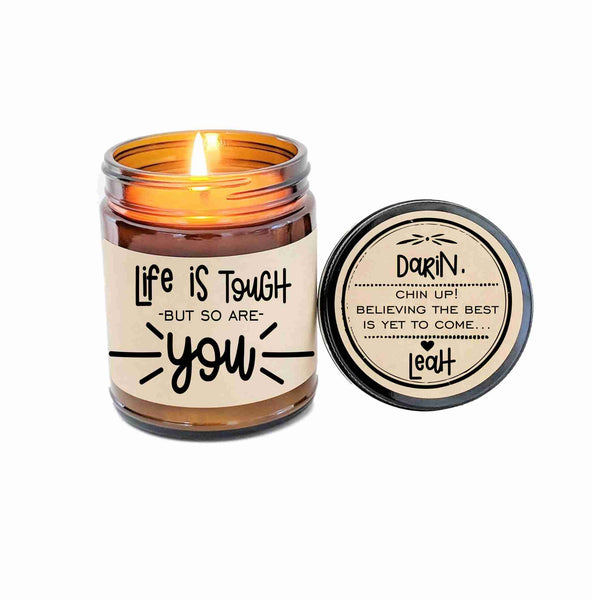 Life is Tough Sympathy Gift Sympathy Card Sorry Card Sorry Gift Hard Times Card Thinking of You Aromatherapy Candle Feel Better Soon