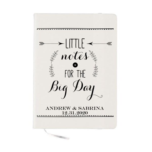 Wedding Notebook Little Notes For The Big Day Wedding Planning Personalized Notebook Wedding Planner
