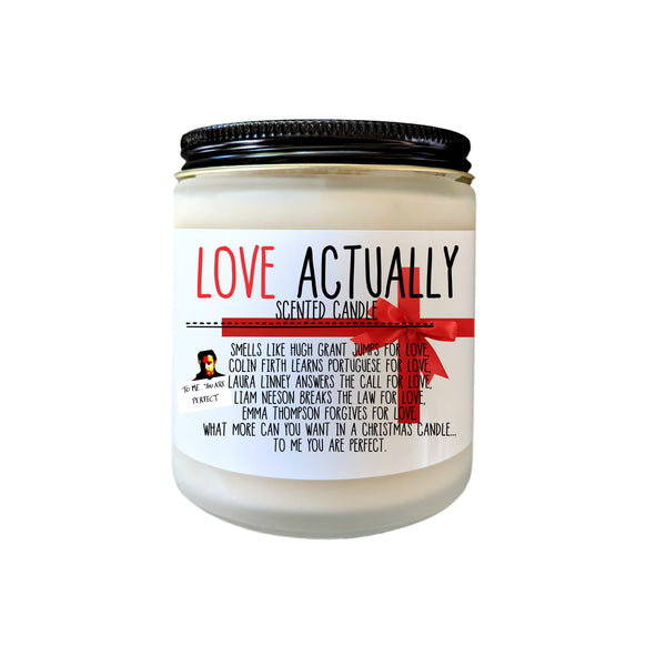 Love Actually Christmas Gift Christmas Candle Christmas Movie Gift Stocking Stuffer Holiday Candle Funny Candle Gift