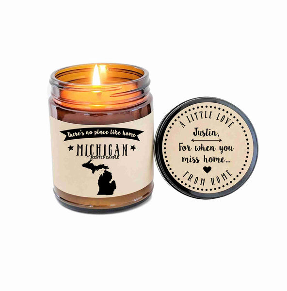 Michigan Candle State Scented Candle Missing Home No Place Like Home State Candle