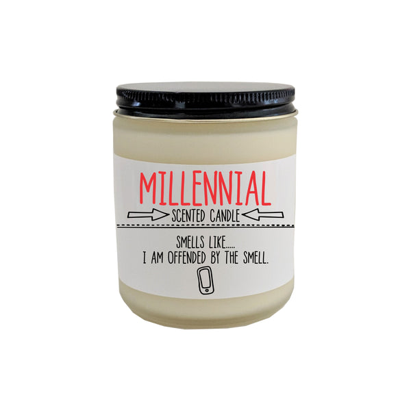 Funny Candle Millennial Scented Candle Funny Gift Gag Gift for Friend Boyfriend Gift Funny Christmas Gift Funny Birthday Gift Holiday Gift