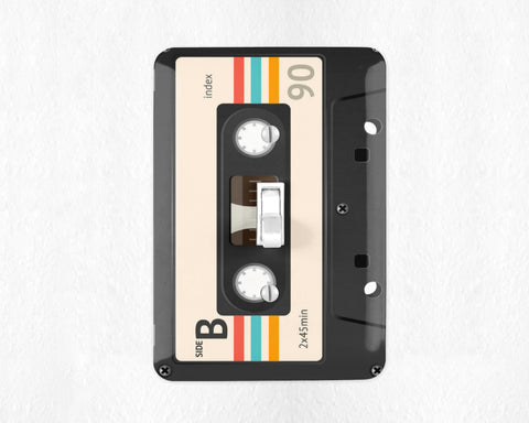 Retro Mix Tape Cassette Switch Plate Cover Mix Tape Light Switch Wall Plate Cover Retro Switchplate 80s Decor 80s Gift I Love the 80s