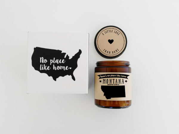 Montana Scented Candle Missing Home Homesick Gift No Place Like Home State Candle