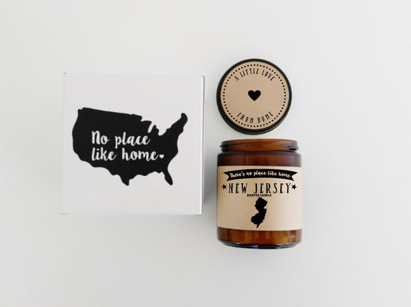 New Jersey Candle State Scented Candle Missing Home No Place Like Home State Candle