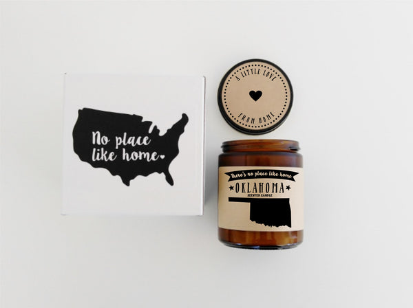 Oklahoma Candle State Scented Candle Missing Home No Place Like Home State Candle State Candle
