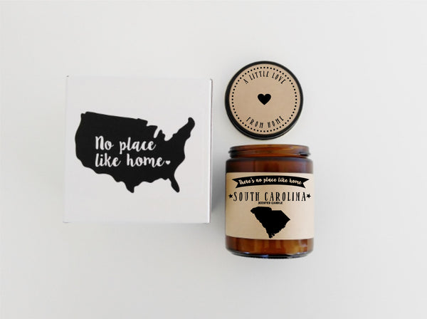South Carolina Scented Candle Missing Home Homesick Gift Moving Gift No Place Like Home State Candle