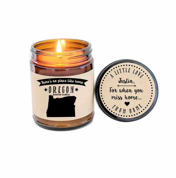 Oregon Scented Candle Missing Home Homesick Gift No Place Like Home State Candle