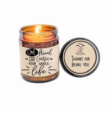 Best Friend Gift Friendship Gift Soy Candle Gift for Friend Scented Candle Birthday Gift Holiday Gift Christmas Gift Friendship Card